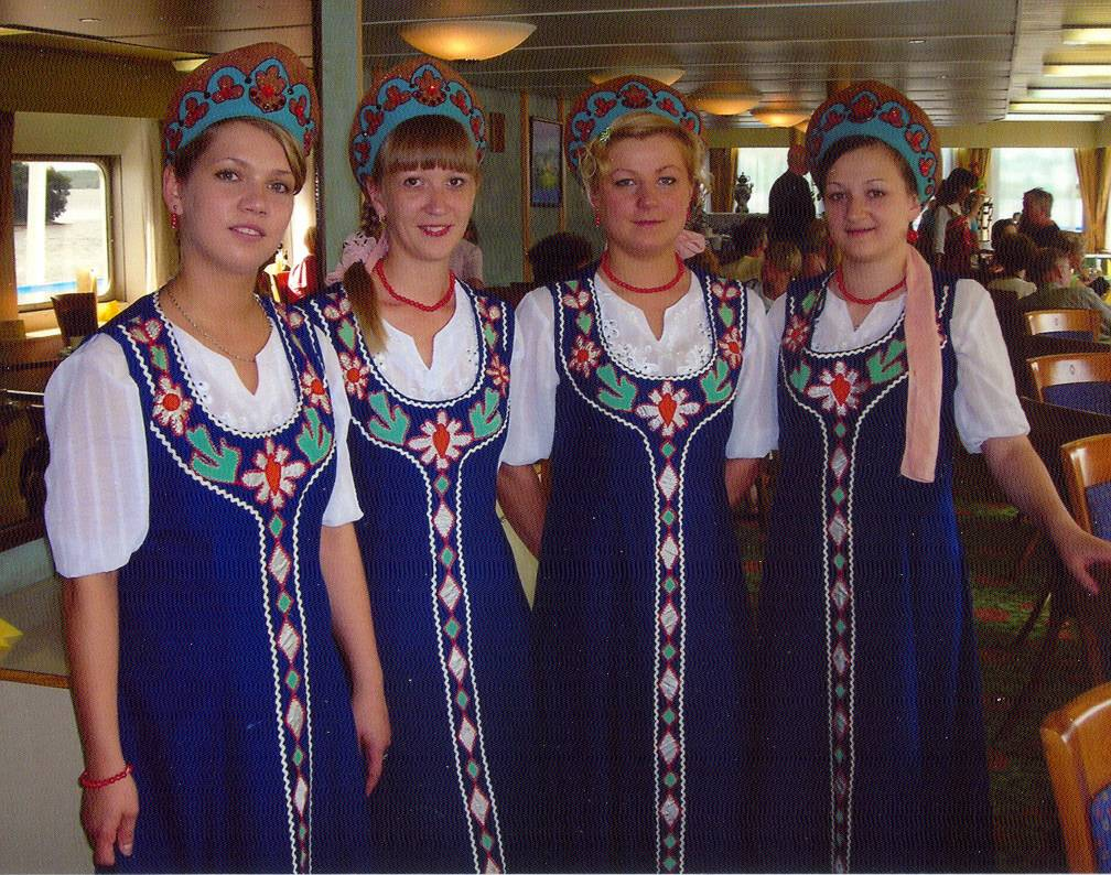 Voyage On The Volga Dining Room Waitresses